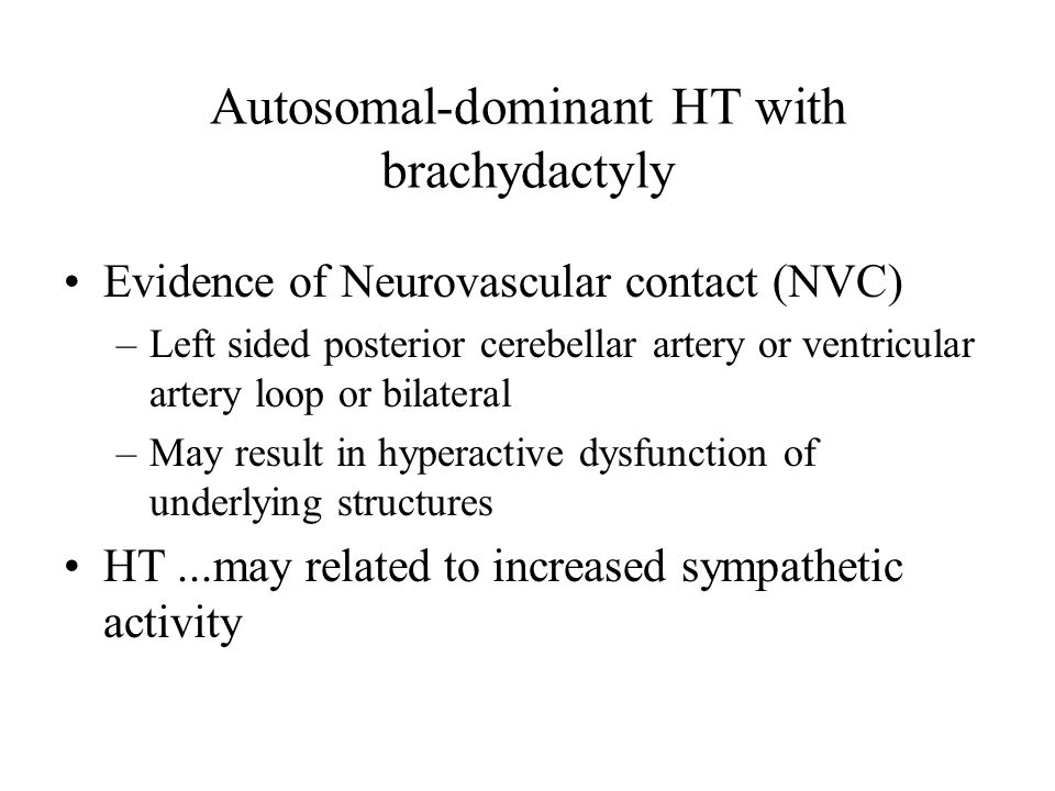 Autosomal-dominant HT with brachydactyly