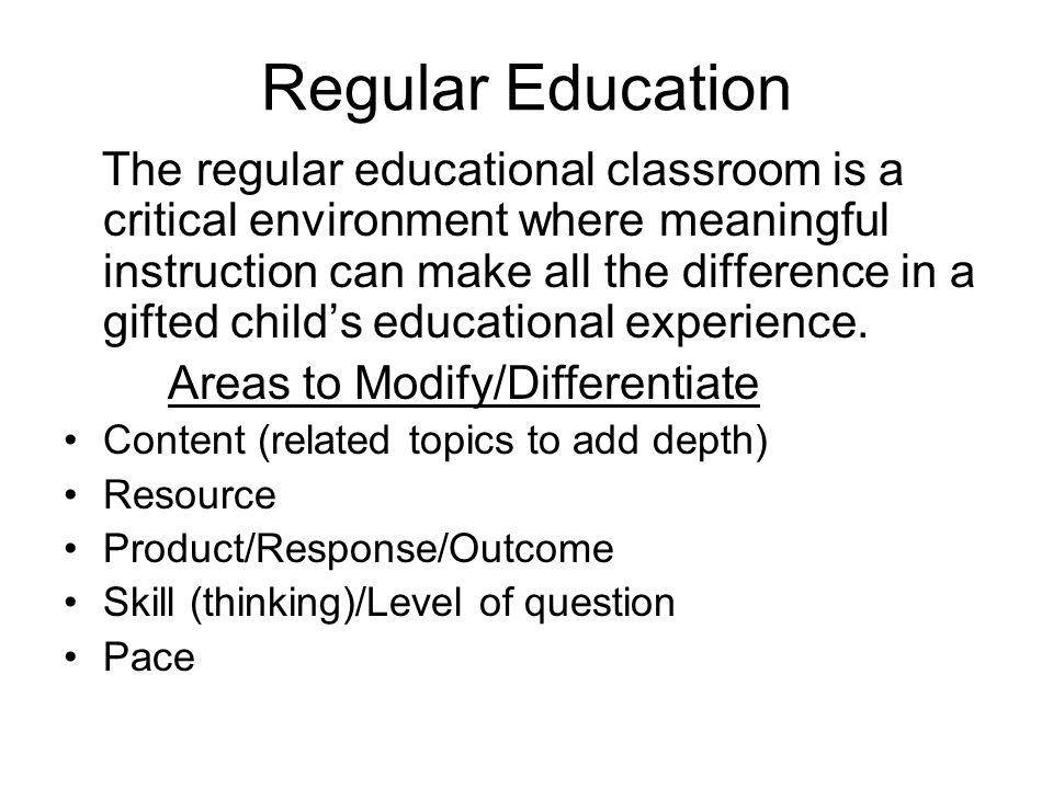 Regular Education