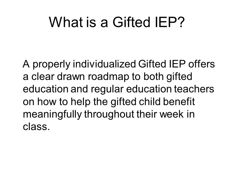 What is a Gifted IEP