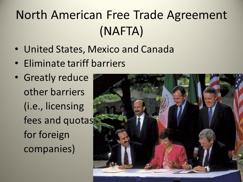 a discussion about the north american free trade agreement in the united states The united states commenced bilateral trade negotiations with canada more  than 30 years ago, resulting in the us-canada free trade agreement, which.