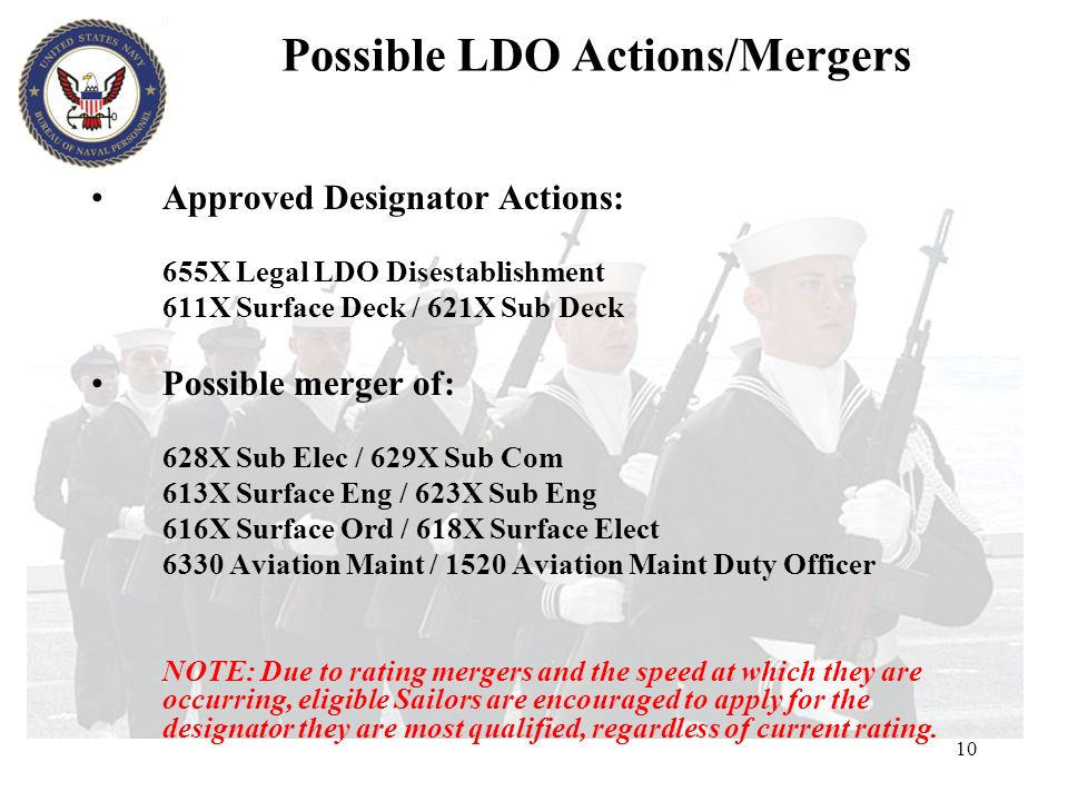 Possible LDO Actions/Mergers