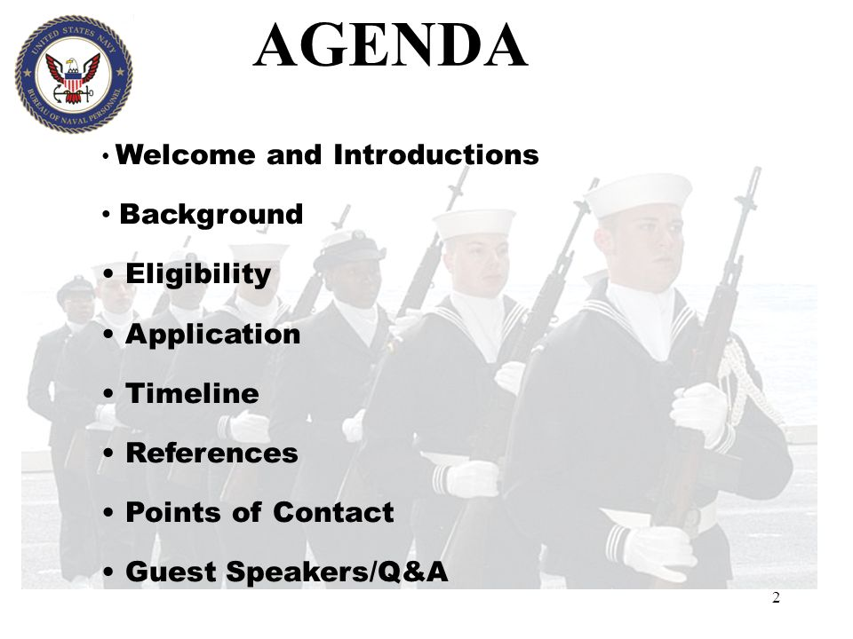 AGENDA Background Eligibility Application Timeline References
