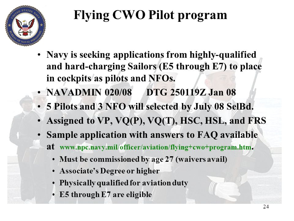 Flying CWO Pilot program