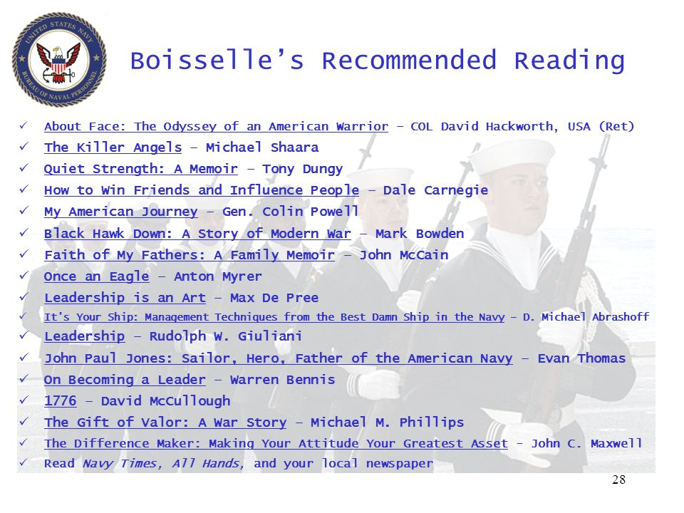 Boisselle's Recommended Reading