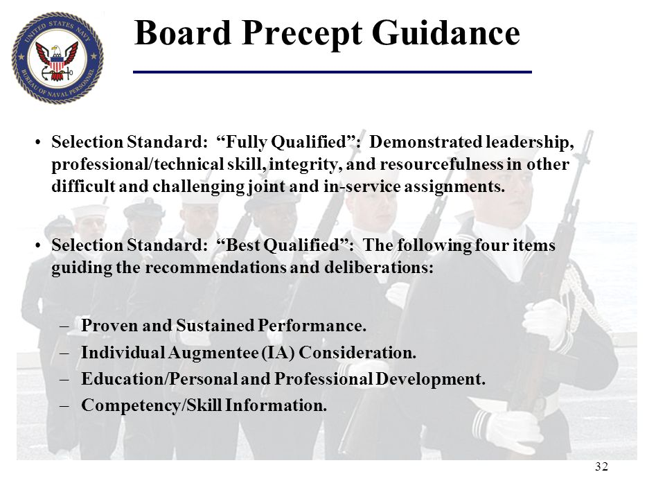 Board Precept Guidance