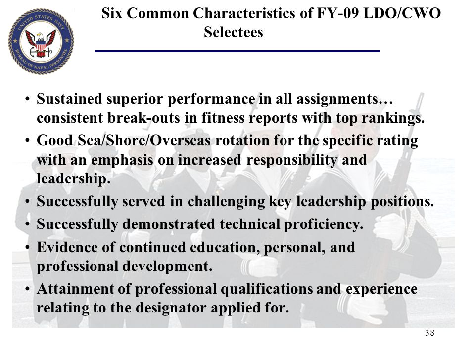 Six Common Characteristics of FY-09 LDO/CWO Selectees
