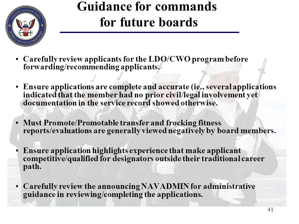 Guidance for commands for future boards