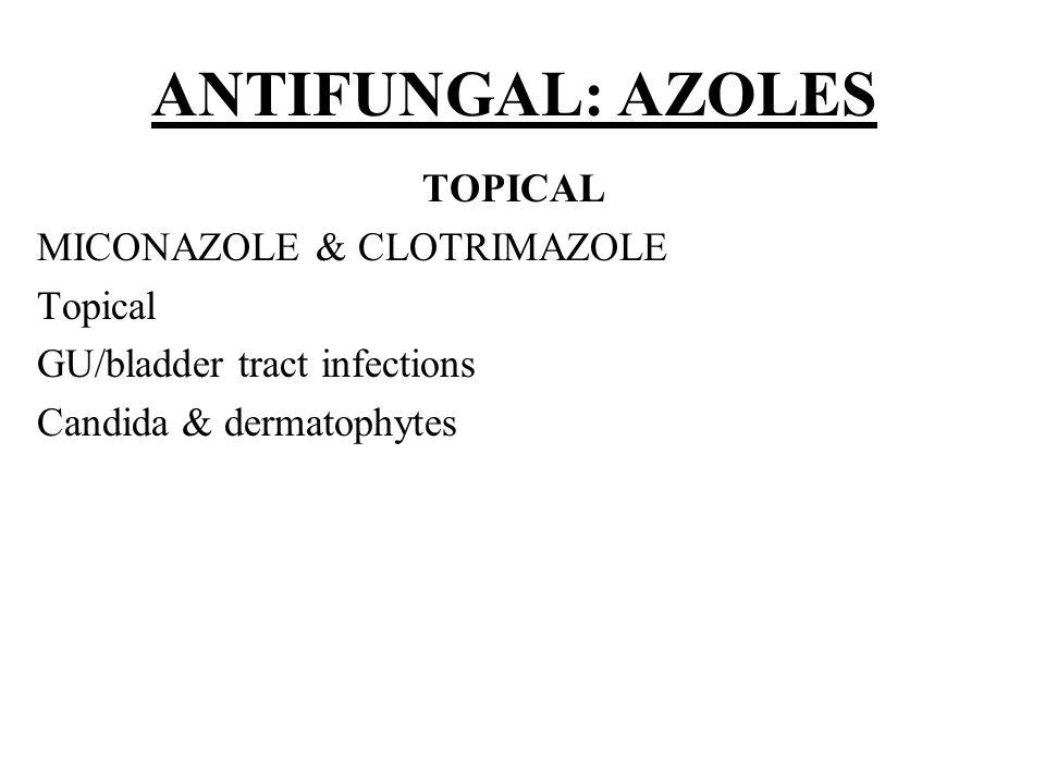ANTIFUNGAL: AZOLES TOPICAL MICONAZOLE & CLOTRIMAZOLE Topical