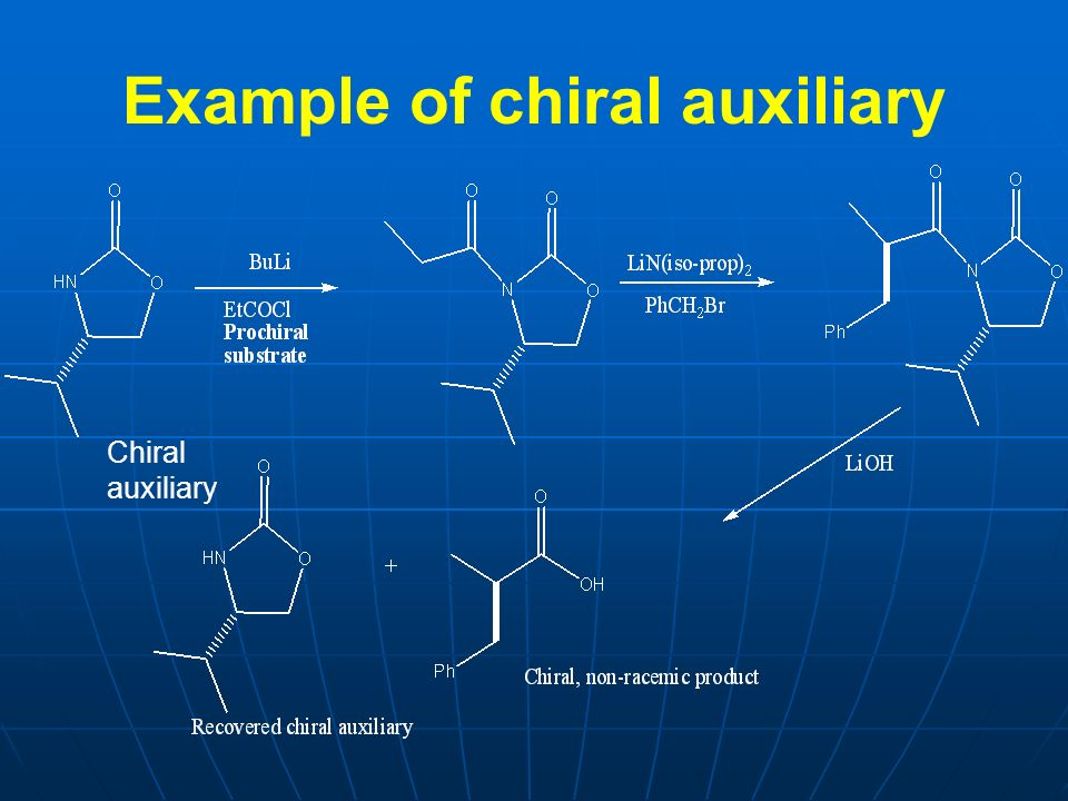 Example of chiral auxiliary