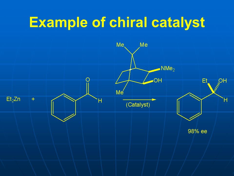 Example of chiral catalyst