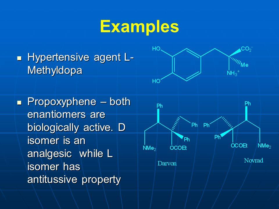 Examples Hypertensive agent L-Methyldopa