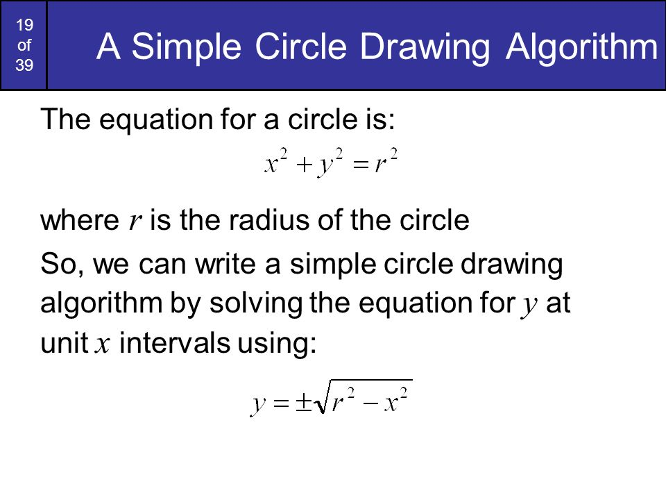 A Simple Circle Drawing Algorithm