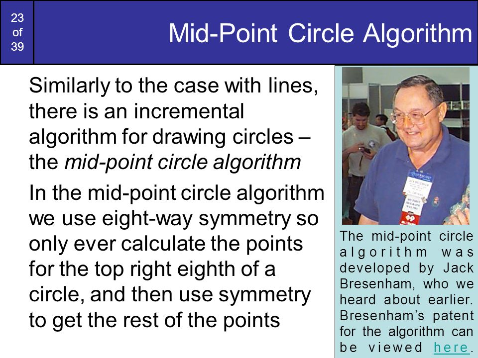 Mid-Point Circle Algorithm
