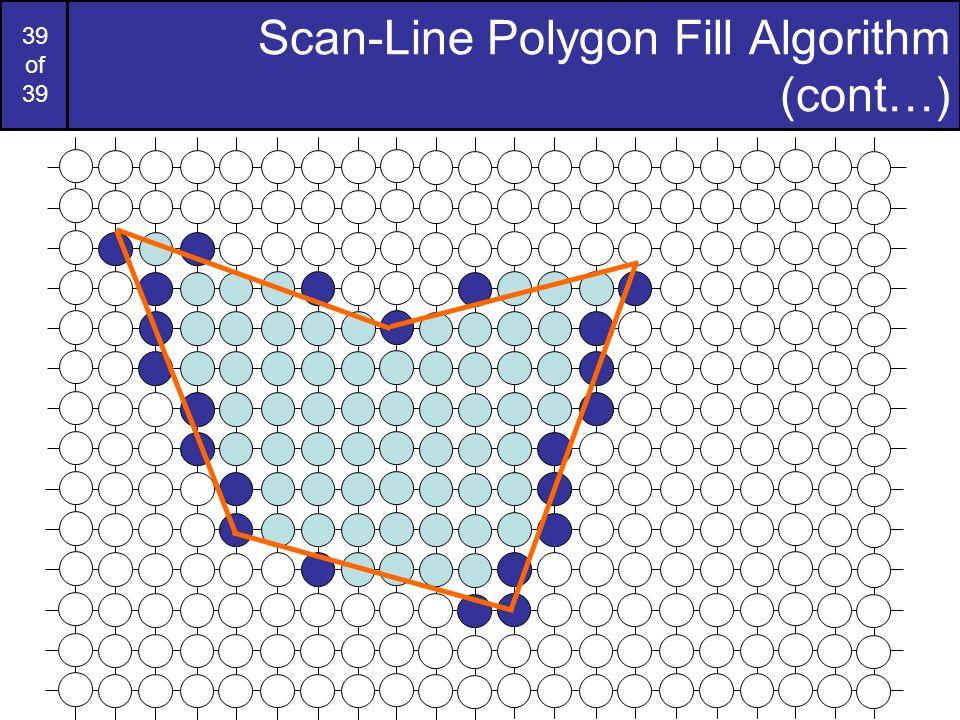 Scan-Line Polygon Fill Algorithm (cont…)