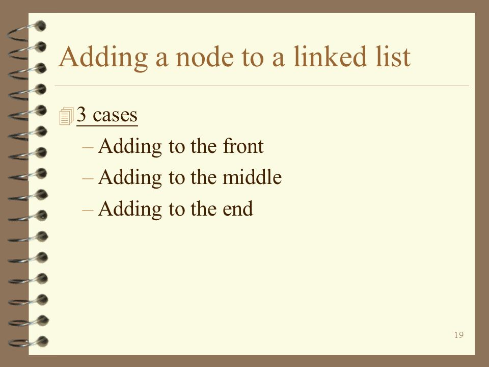 Adding a node to a linked list