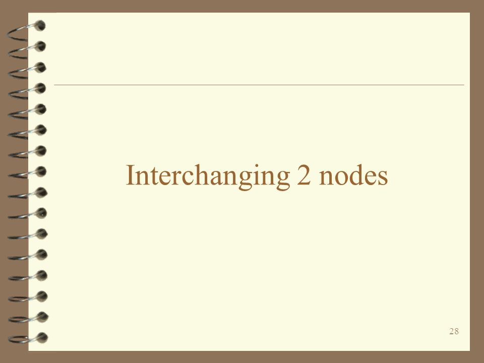 Interchanging 2 nodes