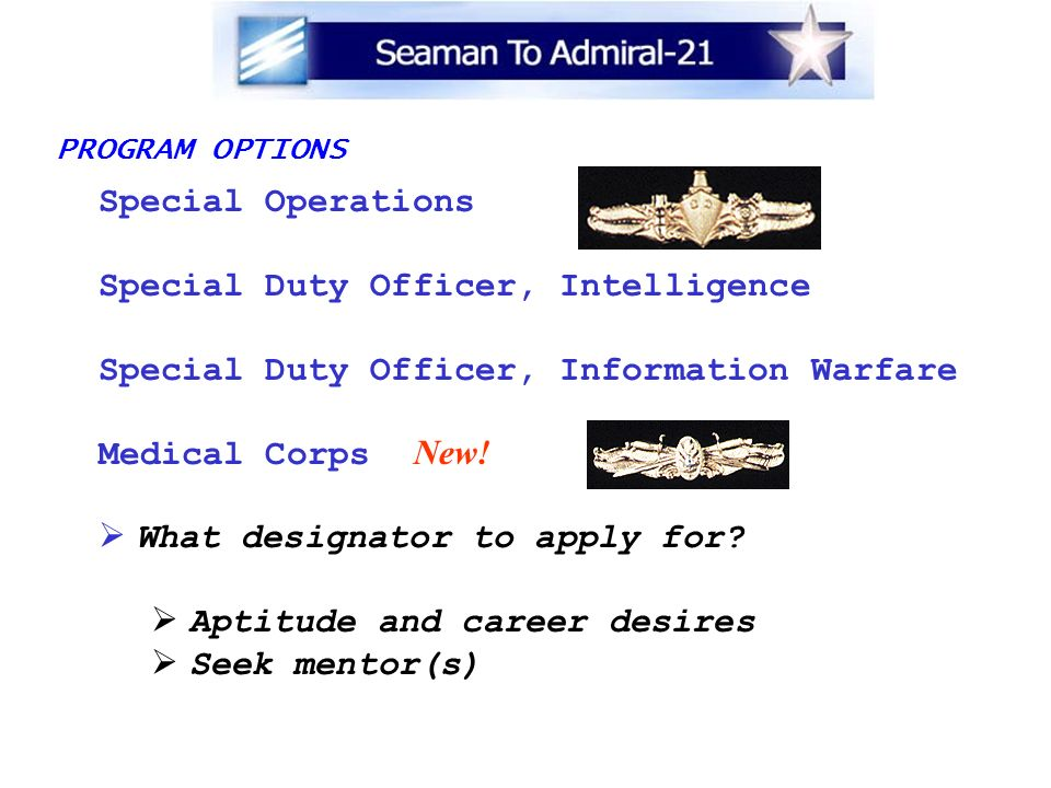 Special Duty Officer, Intelligence