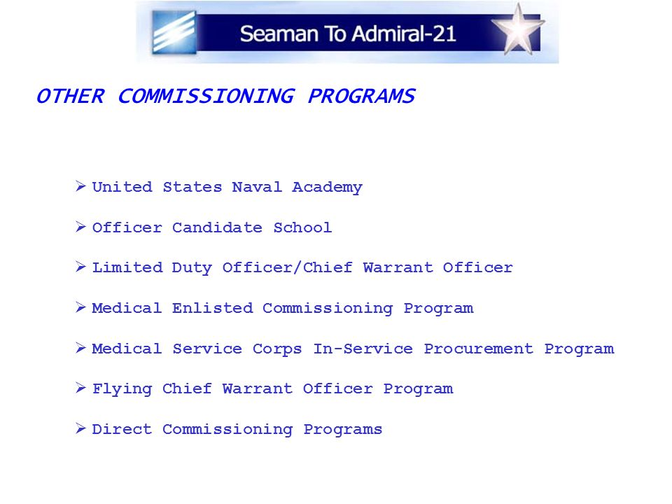 OTHER COMMISSIONING PROGRAMS
