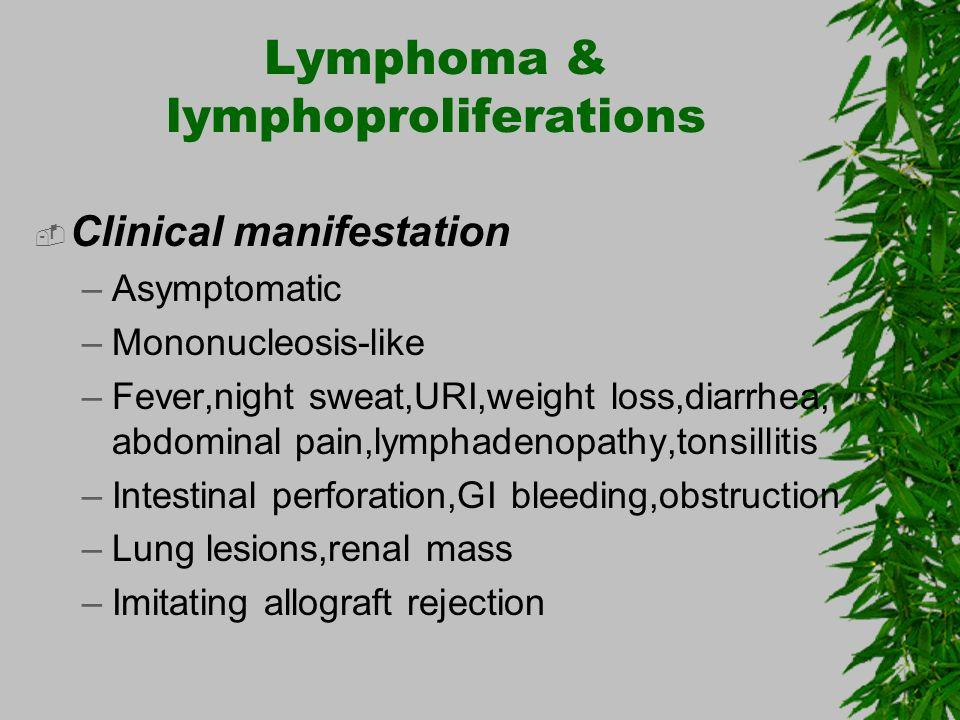Lymphoma & lymphoproliferations