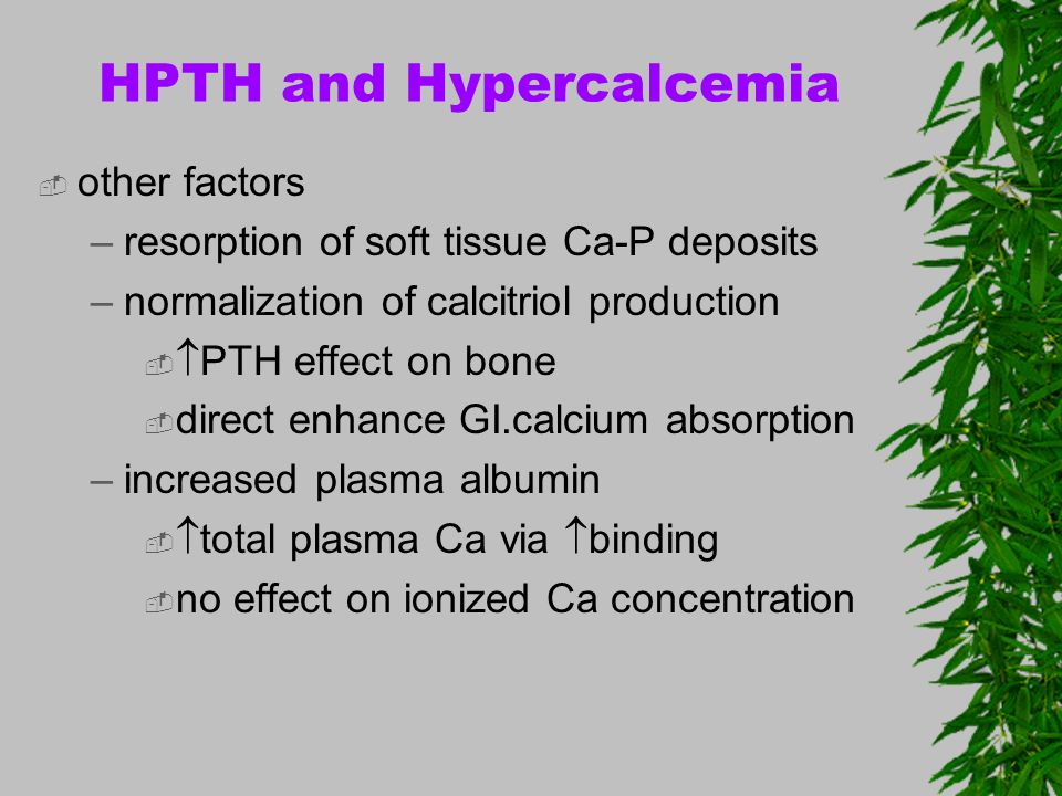HPTH and Hypercalcemia