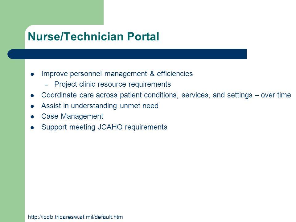 Nurse/Technician Portal