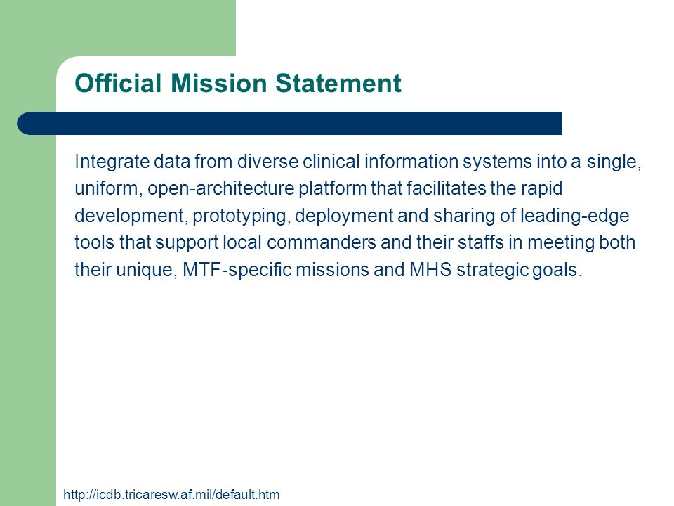 Official Mission Statement