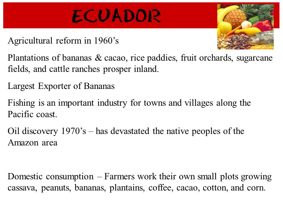 Agricultural reform in 1960's