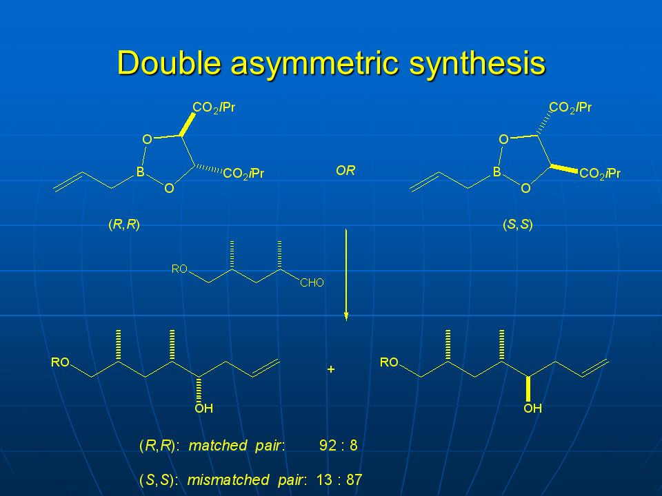 Double asymmetric synthesis