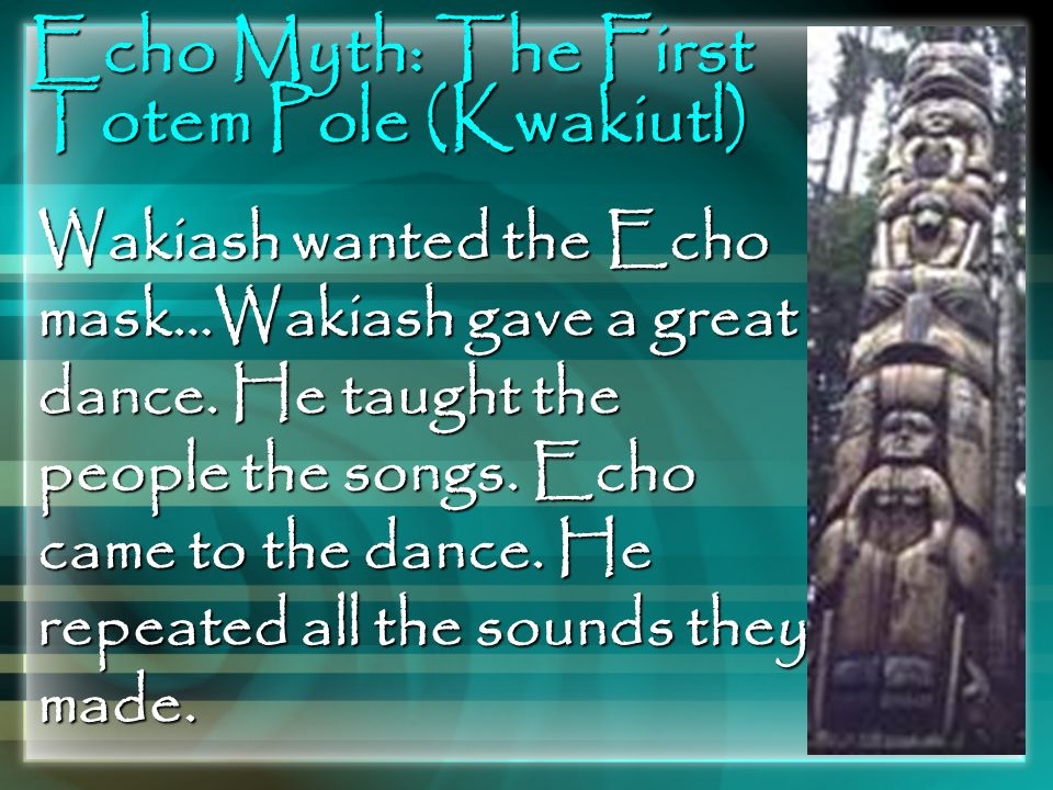 Echo Myth: The First Totem Pole (Kwakiutl)