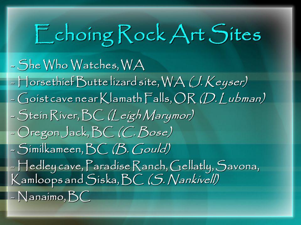 Echoing Rock Art Sites - She Who Watches, WA