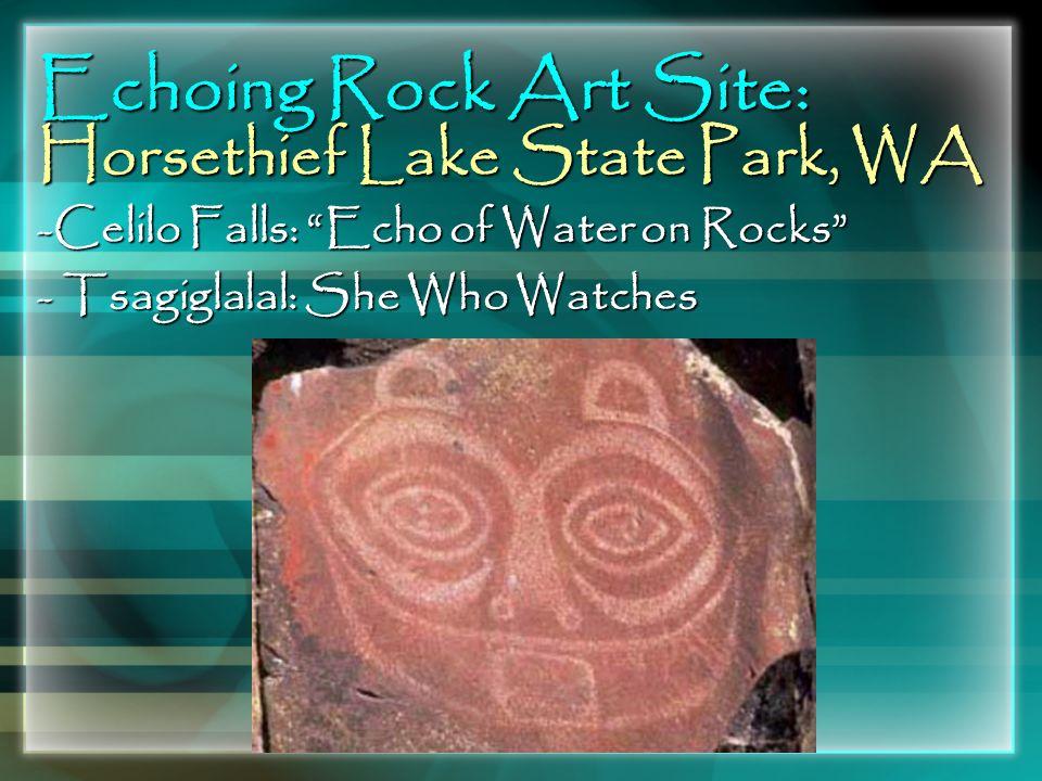 Echoing Rock Art Site: Horsethief Lake State Park, WA