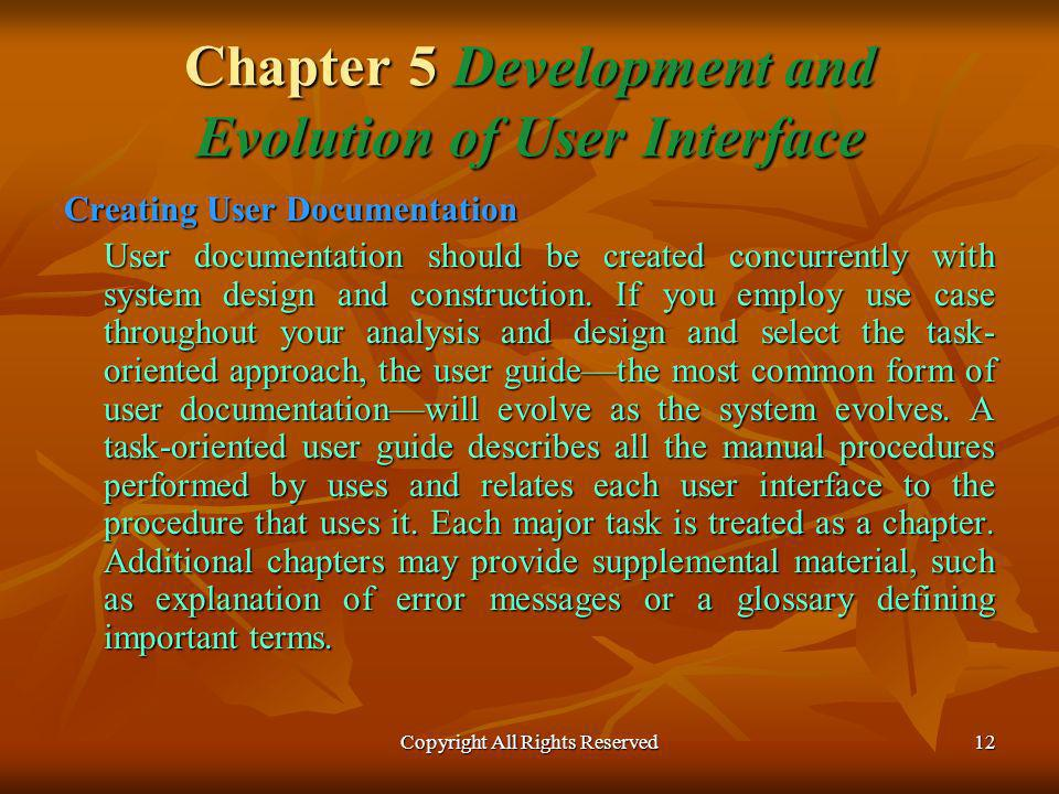 Chapter 5 Development and Evolution of User Interface