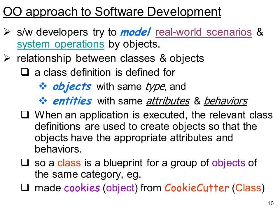 OO approach to Software Development