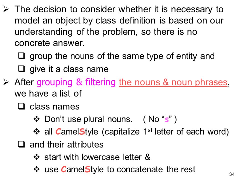 After grouping & filtering the nouns & noun phrases, we have a list of