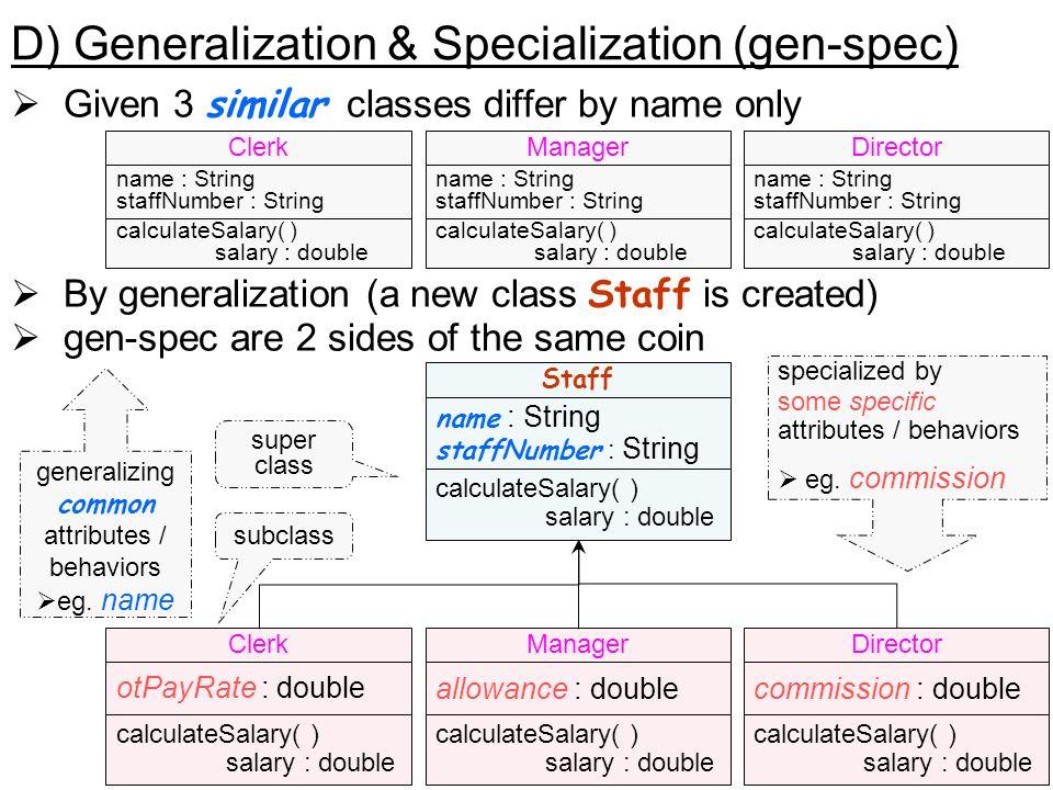 D) Generalization & Specialization (gen-spec)