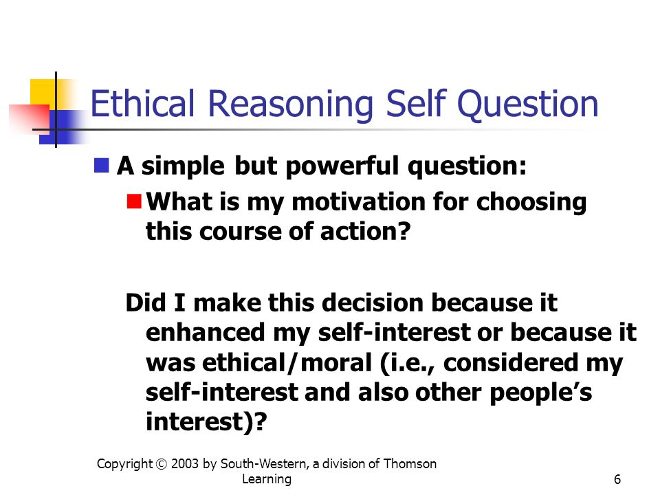 Ethical Reasoning Self Question