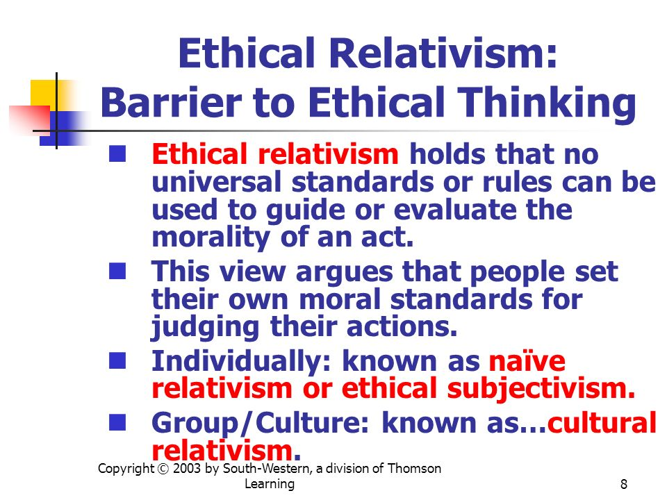 Ethical Relativism: Barrier to Ethical Thinking