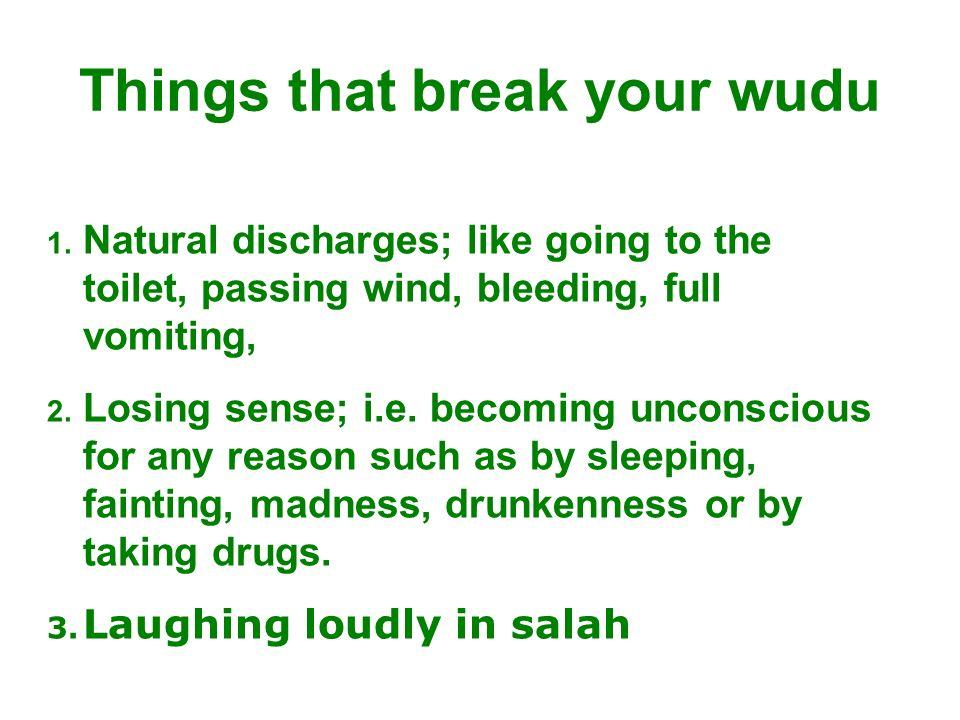 Things that break your wudu