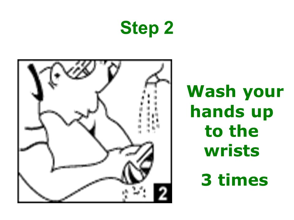Wash your hands up to the wrists