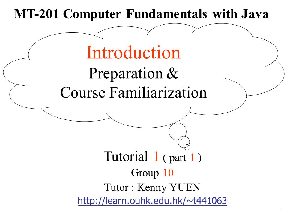 MT-201 Computer Fundamentals with Java