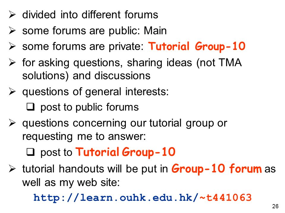 divided into different forums some forums are public: Main