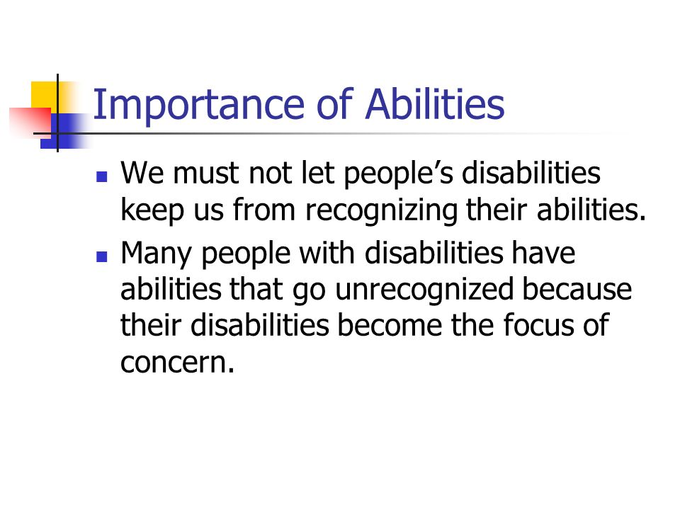 Importance of Abilities