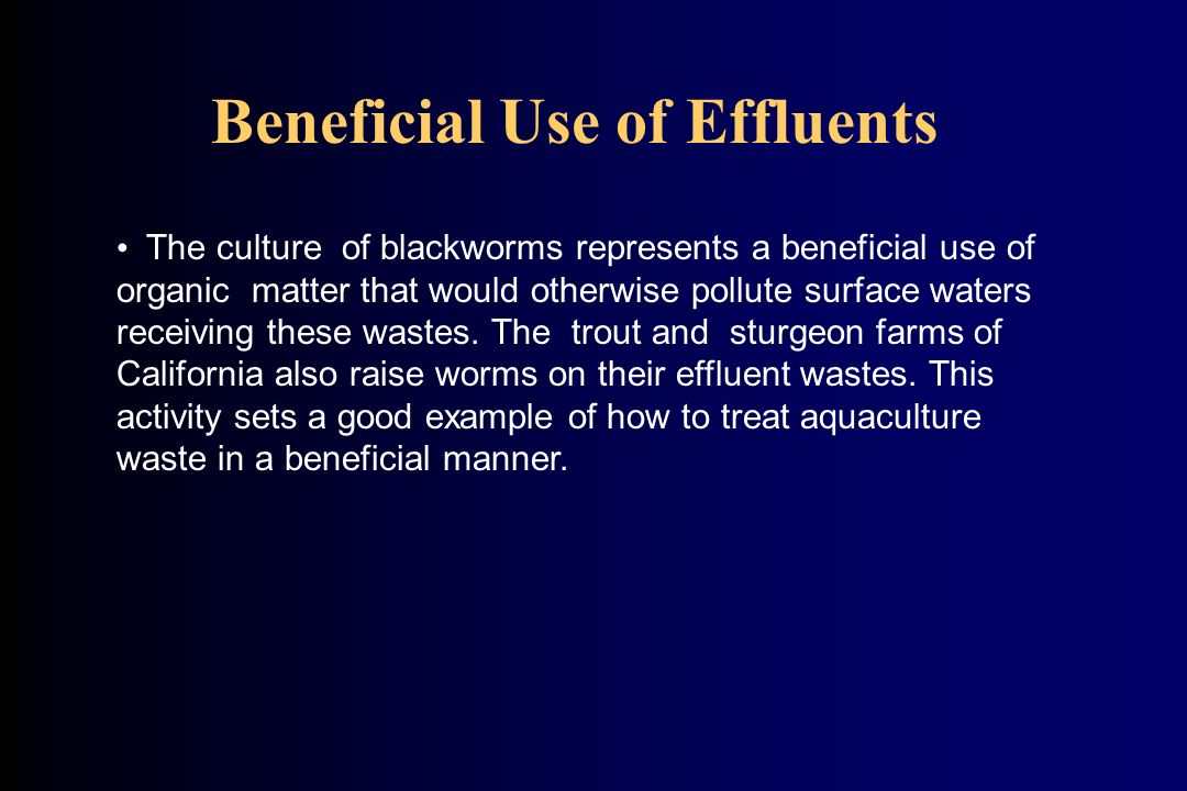 Beneficial Use of Effluents