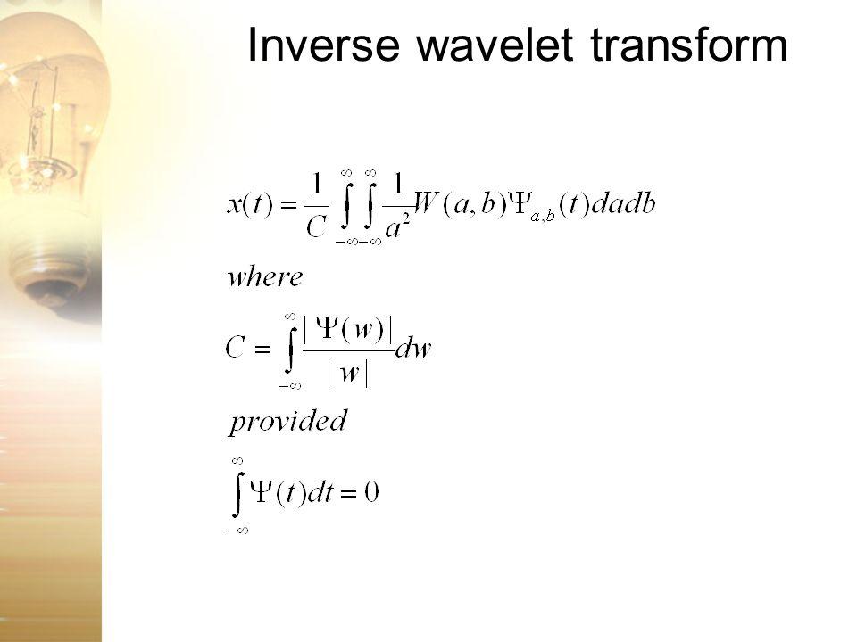 Inverse wavelet transform