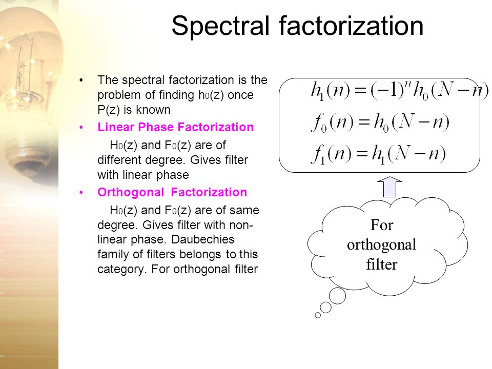 Spectral factorization