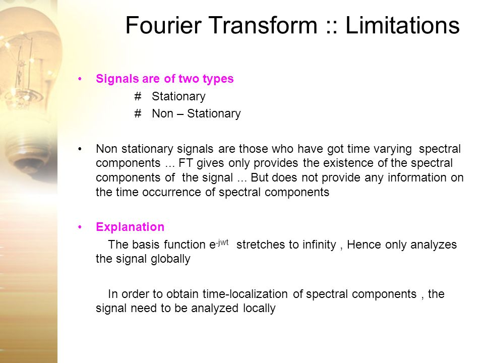 Fourier Transform :: Limitations