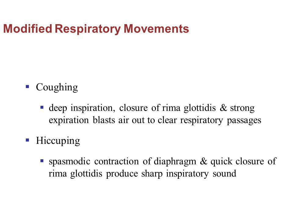 Modified Respiratory Movements