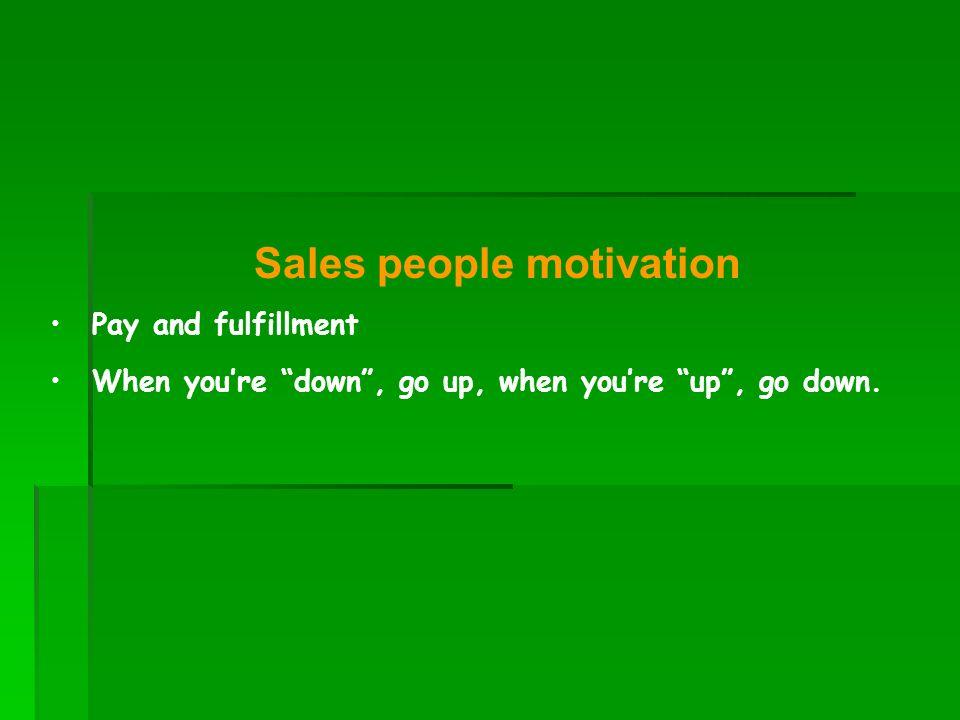 Sales people motivation