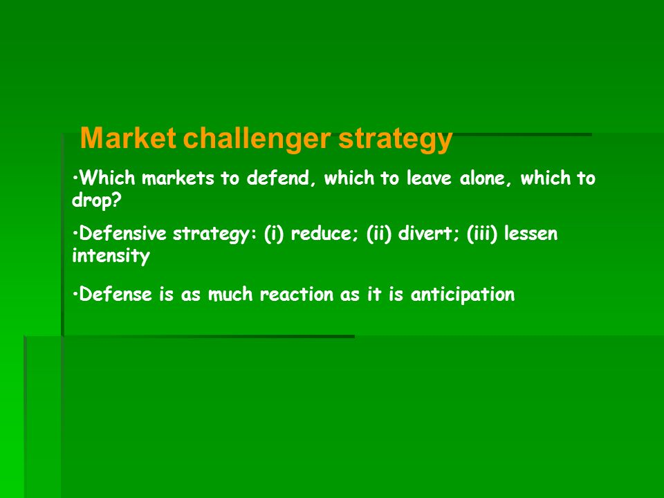 Market challenger strategy