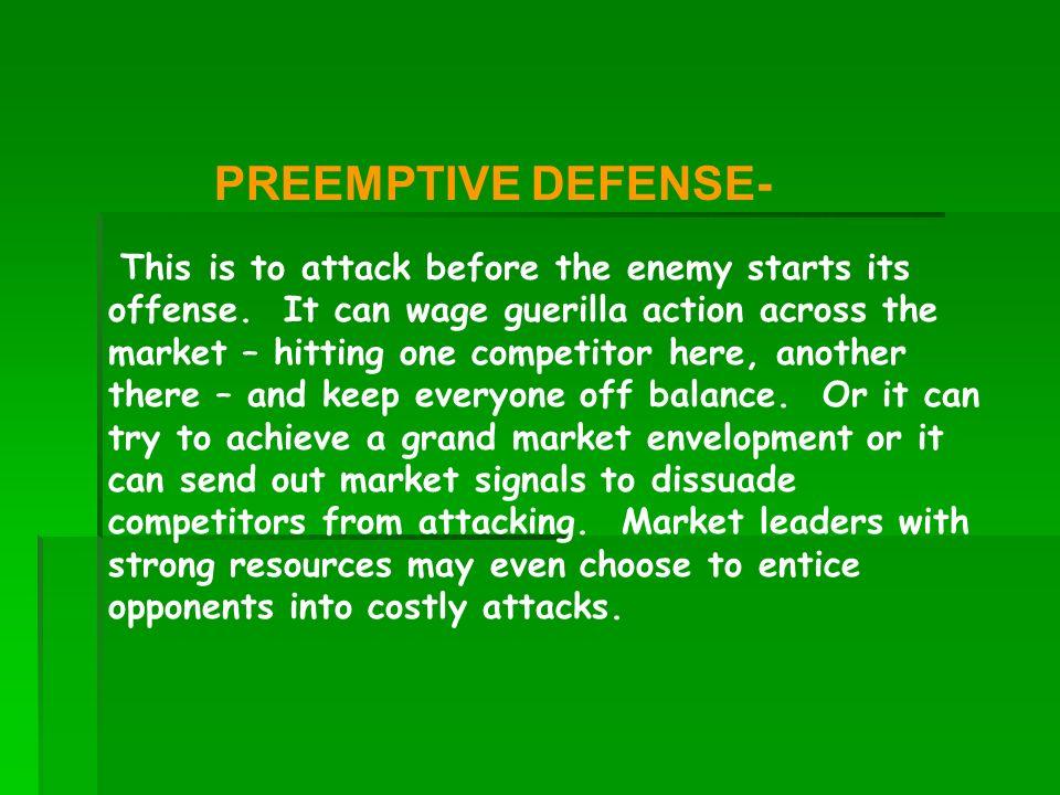 PREEMPTIVE DEFENSE-